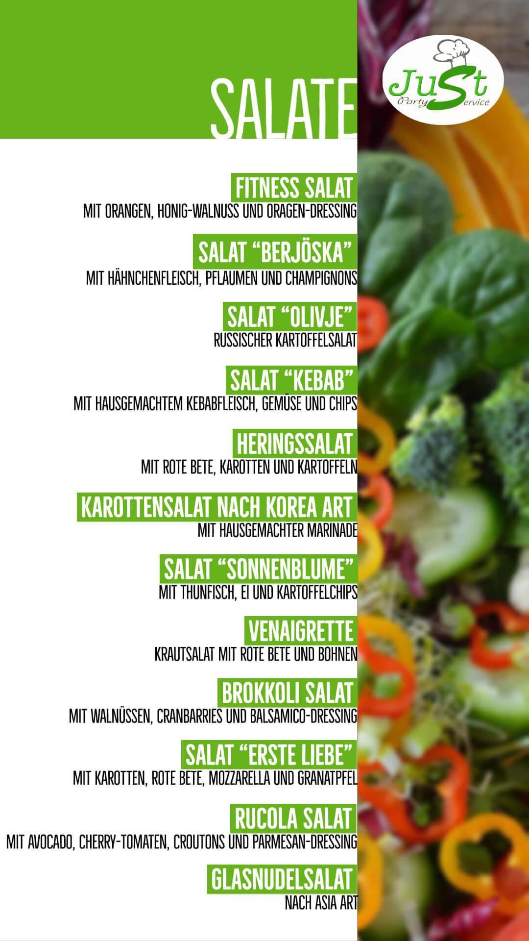 Salate-Menü