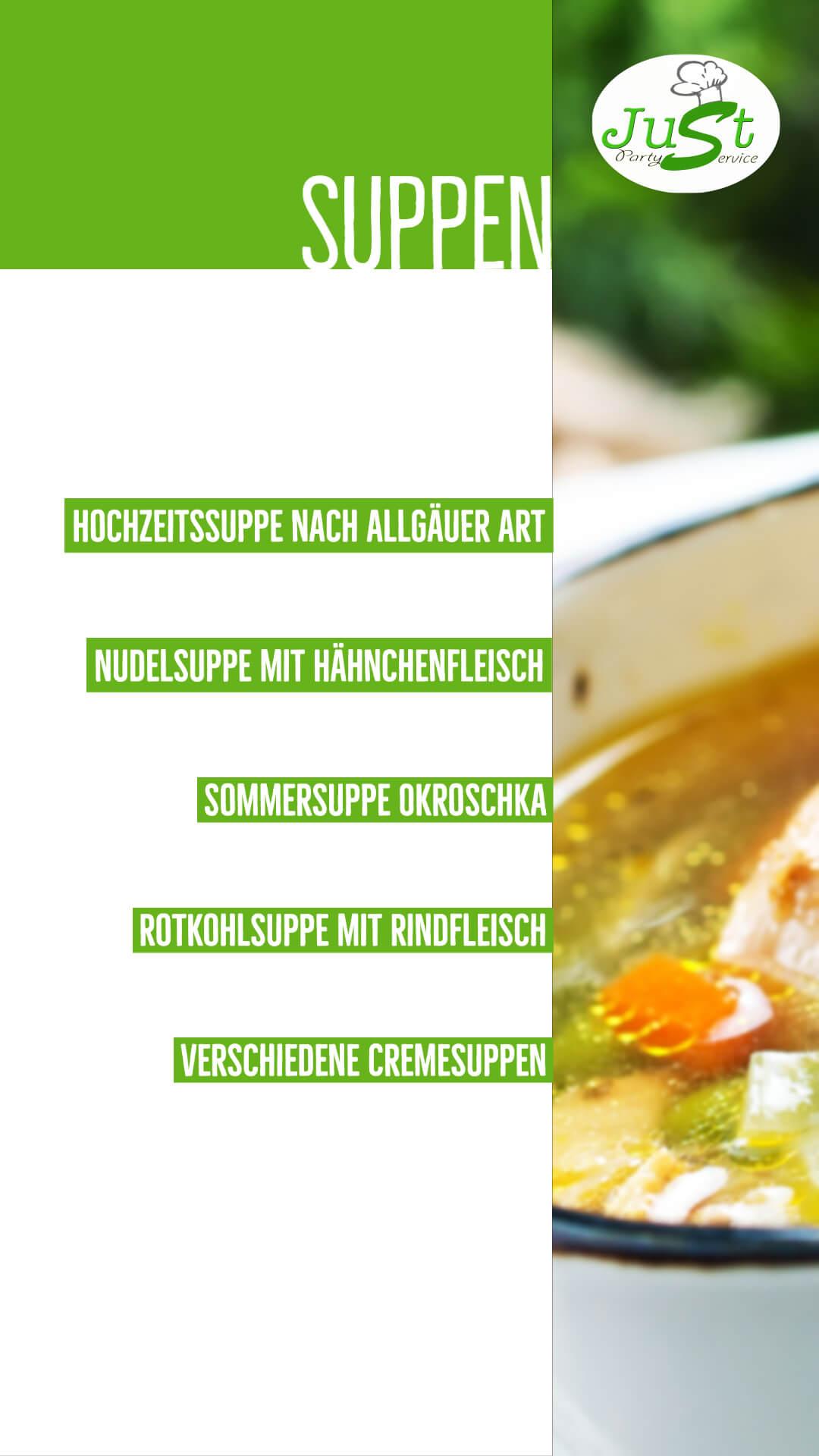 Suppen-Menü