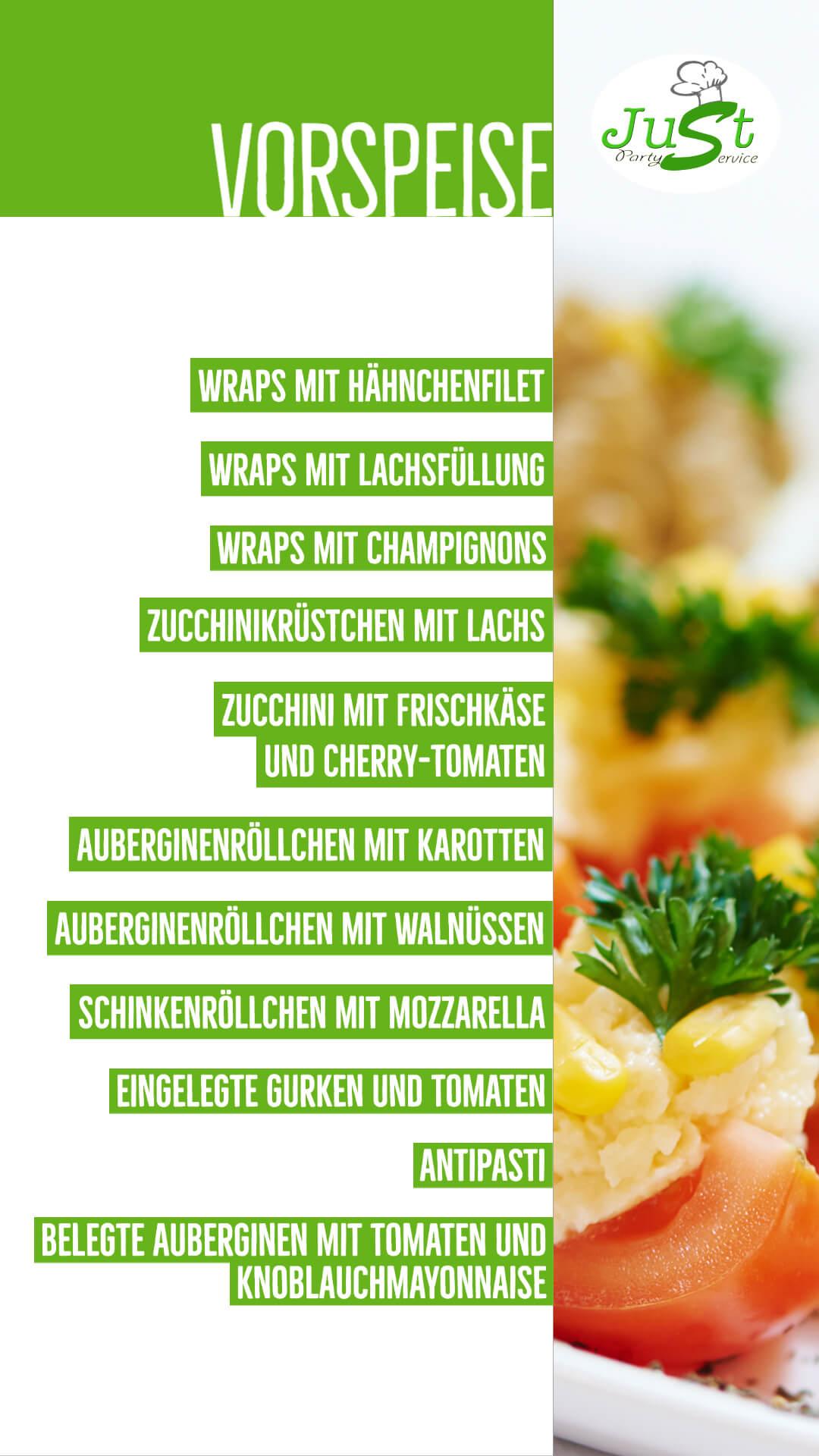 Vorspeise-Menü